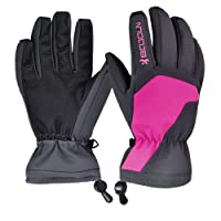Winter Ski Gloves - Waterproof Snowboard Skiing Full Finger Warm Snow Gloves - Outdoor Windproof Snowproof Camping Hiking Climbing Mountain Bike Trekking Cycling Gloves - Men and Women Christmas Gift