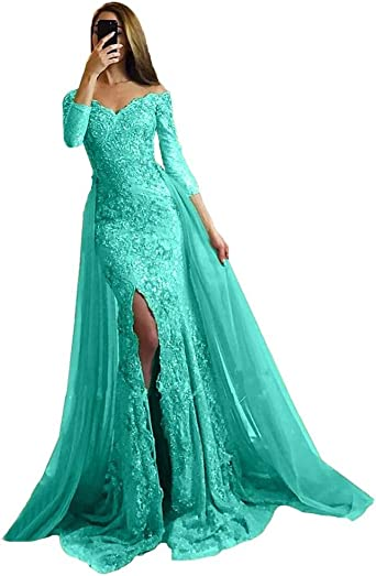 Prom Dresses Lace Tulle Evening