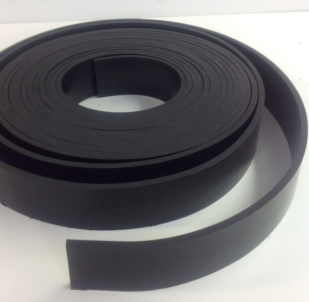 Solid Commercial Grade Nitrial (Buna) Rubber Strip - .125'' thk x 2'' Wide x 10' Long