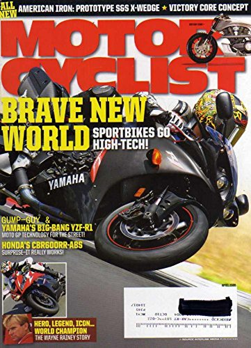 (Motorcyclist Magazine April 2009 SPORTBIKES GO HIGH-TECH Yamaha's Big-Bang YZF-R1 Moto GP Technology For The Street HONDA'S CBR600RR-ABS American Iron: Prototype S7S X-Wedge HERO, LEGEND)