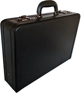 Quality Briefcase Executive Leather Business Case Work Bag 6911