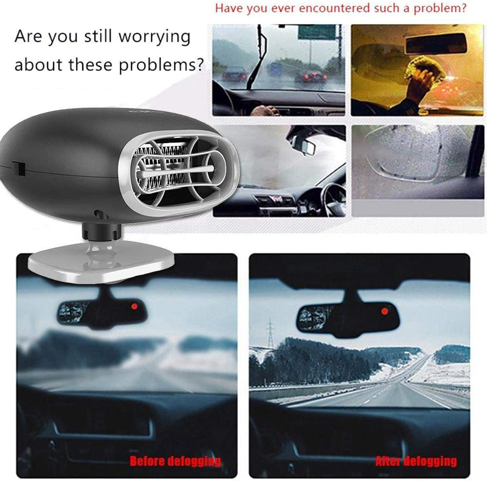 Fahrzeugheizungen innenraumheizung auto zigarettenanz/ünder auto heizl/üfter DokFin 12v 150w 2 in 1 Auto L/üfter /& heizung defroster windschutzscheibe demister
