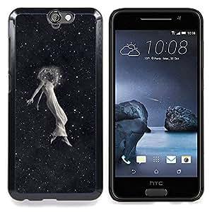 """Qstar Arte & diseño plástico duro Fundas Cover Cubre Hard Case Cover para HTC One A9 (Space Girl Emo"""")"""