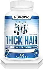 Thick Hair Growth Vitamins–Anti Hair Loss Pills With DHT Blocker Stimulates