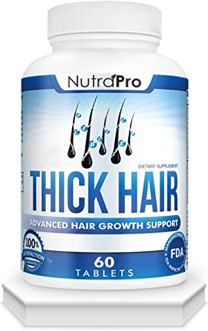 Thick Hair Growth Vitamins–Anti Hair Loss Pills With DHT Blocker Stimulates Faster Hair Growth for Weak, Thinning Hair–Biotin Hair Supplement with Keratin & Collagen Helps Men&Women Grow Perfect Hair