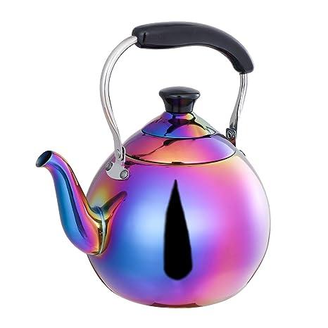 Amazon.com: ROYDOM - Tetera de té con silbato de acero ...