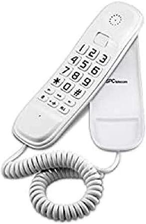 SPC Original Lite teléfono fijo color blanco sobremesa y mural fácil de usar con 2 memorias directas, rellamada al último número marcado y función mute: SPC TELECOM: Amazon.es: Electrónica