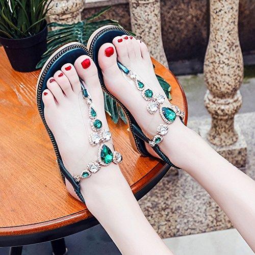 Las sandalias Bohemia deslizador mujeres del 36 4 verano EU green UK 5 NNZZYSandalias las del 5 cYw4qdw5