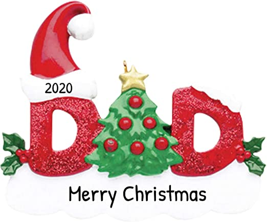 Dad Christmas 2020 Amazon.com: Personalized Dad Christmas Tree Ornament 2020   Snowy
