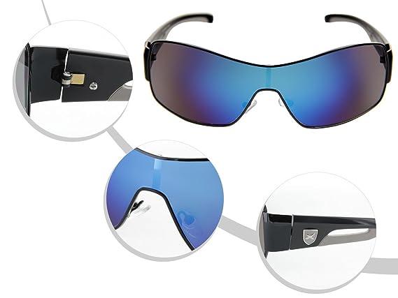 LOOX Pilotenbrille Sonnenbrille Vintage große Gläser Herren Damen Retro Fliegerbrille Modell Long Beach 105 von ALSINO, Variante wählen:LOOX-105 blau