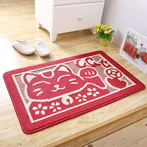 PRAGOO Cat Doormat Cartoon Animal Entrance Mat Bath Kitchen Mat Non Slip House Door Rug 20x30inch by PRAGOO (Image #1)