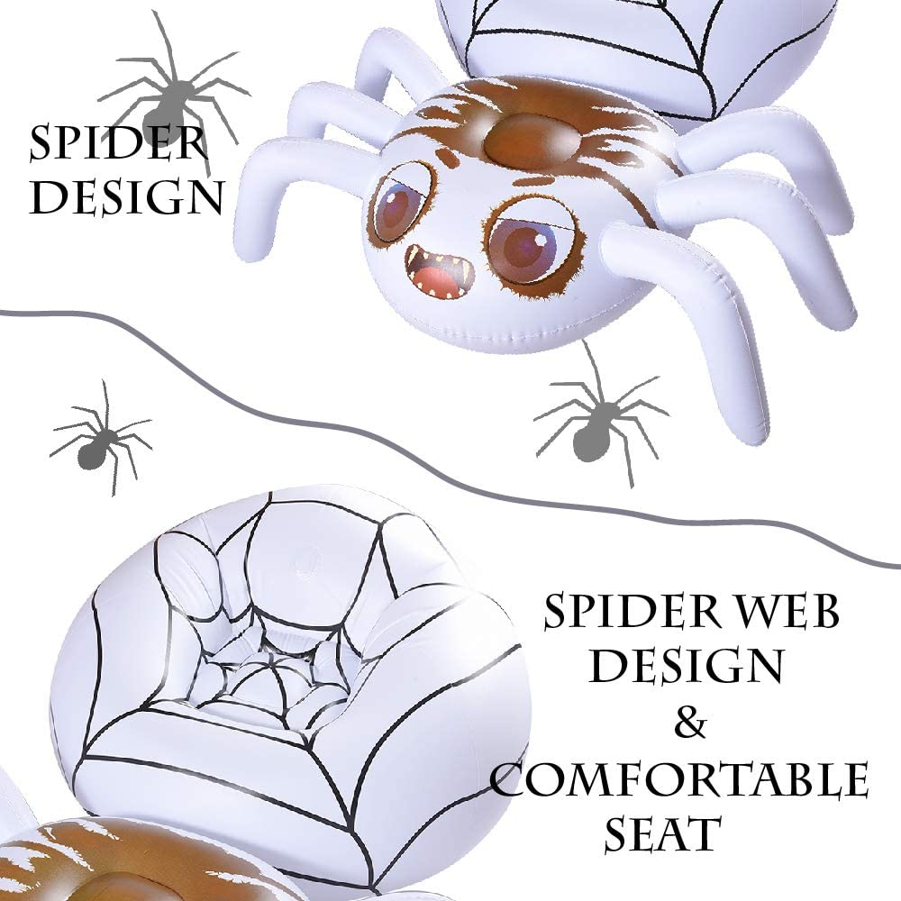 Halloween Fun Party Ideas Air Sofa Inflatable Pool Lounge Air Chair HIWENA Halloween Decorations Inflatable Spider Lounge 67 x 45 x 31