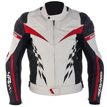 Chaqueta de piel para hombres Spyke 4 Race Chaqueta moto con ...