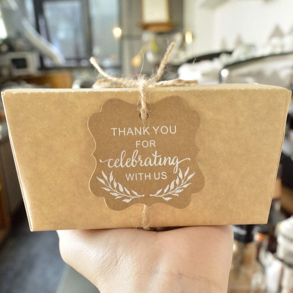 Muttertag mit Schnur f/ür Hochzeit handgefertigt Erntedankfest 100 St/ück HEALLILY Geschenkanh/änger aus Kraftpapier