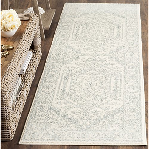 Collection ADR108S Ivory and Slate Oriental Vintage Runner (2'6