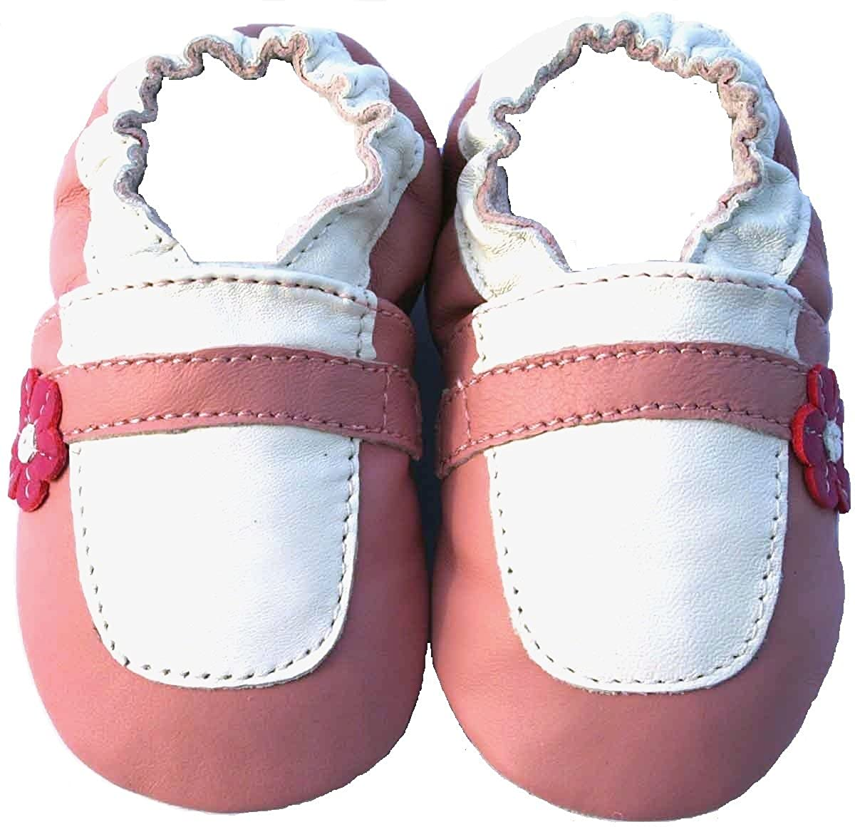 Soft Sole Leather Baby Shoes Infant Toddler Child Kid Boy Girl Crib Shoes Maryjane Pink