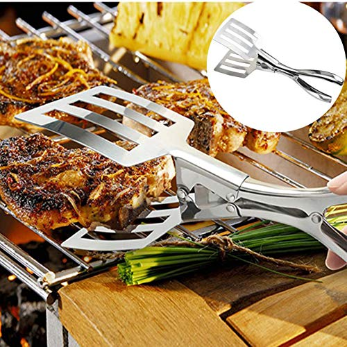 VADOLY Multi-Function Food Grade Tong Stainless Steel Tongs Kitchen Cooking Tongs Accessories Salad Serving BBQ Toots Handle Utensil