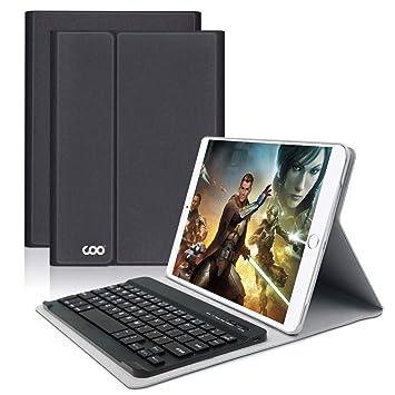 Coo iPad Pro 9.7 Funda, muti-angle Smart de teclado inalámbrico desmontable teclado Bluetooth
