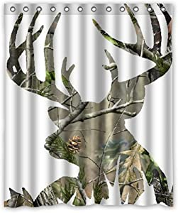 "Cloud Dream camo Deer Picture Waterproof Fabric Polyester Bathroom Shower Curtain 60""(W) X 72""(H)"