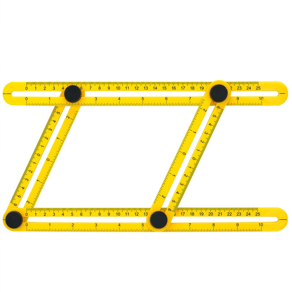 GYMAN Multi-Angle Measuring Ruler Angle Izer Template Tool for Handyman Builders Craftsman DIY-ER by GYMAN (Image #2)