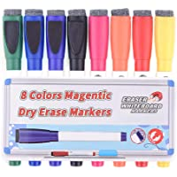 Feela 8 Colors White Board Markers and Eraser