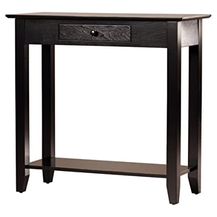 Exceptionnel Charlton Home Williams Console Table, Compact Console Table, Black
