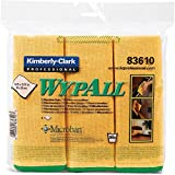 "Wypall Microfiber Cloths (83610), Reusable, 15.75"" x 15.75"", Gold (Yellow), 4 Packs/Case, 6 Wipes/Container, 24 / Case"