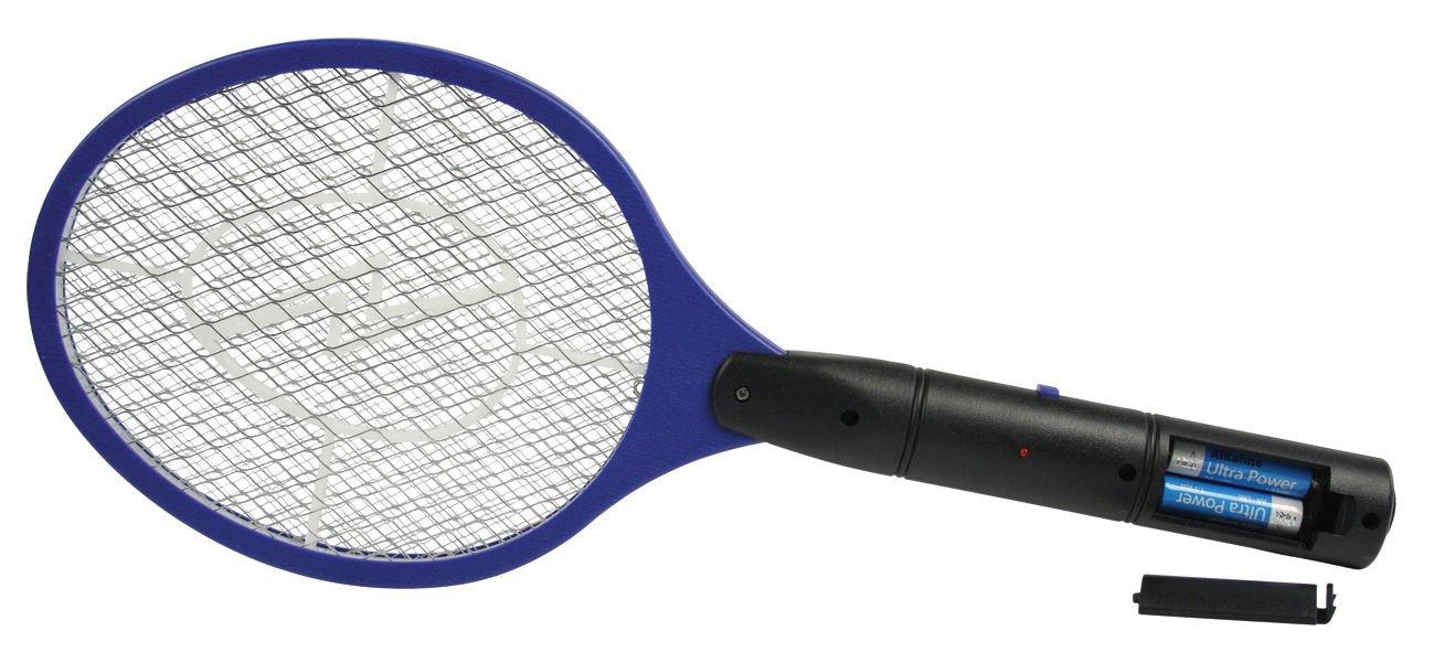 Invero® Bug Zapper Racket Elektronische Fliegenklatsche Moskito Insekten Elektro Bat Hand Ideal für zu Hause oder Reisen