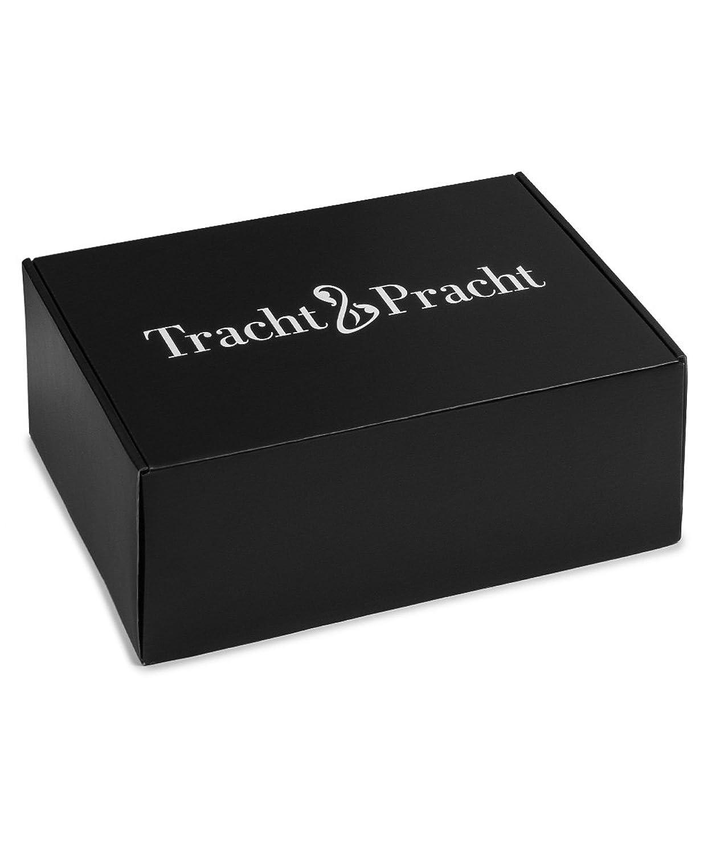 Tracht & Pracht Zapatos tradicionales bávaros para hombre, 100% ante, color Marrón, talla 47 EU