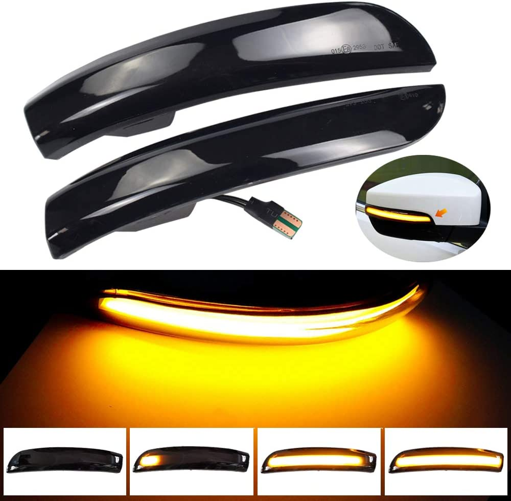 KKmoon Luce Lampeggiante per Indicatori di Direzione Dinamici a LED per Auto Sostituzione per Ford Kuga Escape EcoSport 2013-18