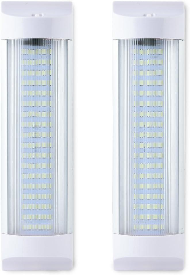 MICTUNING 11 pulgadas Barra de Luces LED para Interiores de Automóviles 10W 72 LED Tubo de Luz Blanca con Interruptor para Camiones, Coche,Barco etc.(paquete de 2)