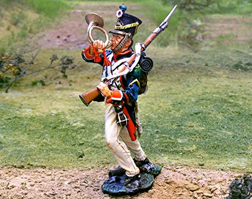 Napoleonic Toy Soldiers French Line Infantry Blowing Corne Collectors Showcase Toy Soldiers Painted Metal Figure CS00666 Britains King Country Type