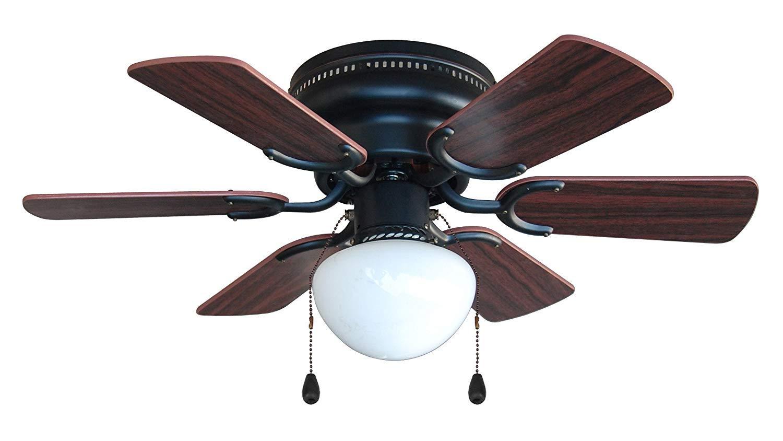 Cherry or Walnut Blades Hardware House 17-4640 Arcadia 30-Inch Oil Rubbed Bronze Flush Mount Hugger Ceiling Fan