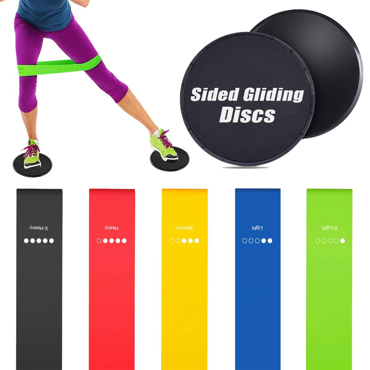 Epicentre Set of 5 Resistance Bands Loop Bands for Exercise Sports Fitness Yoga