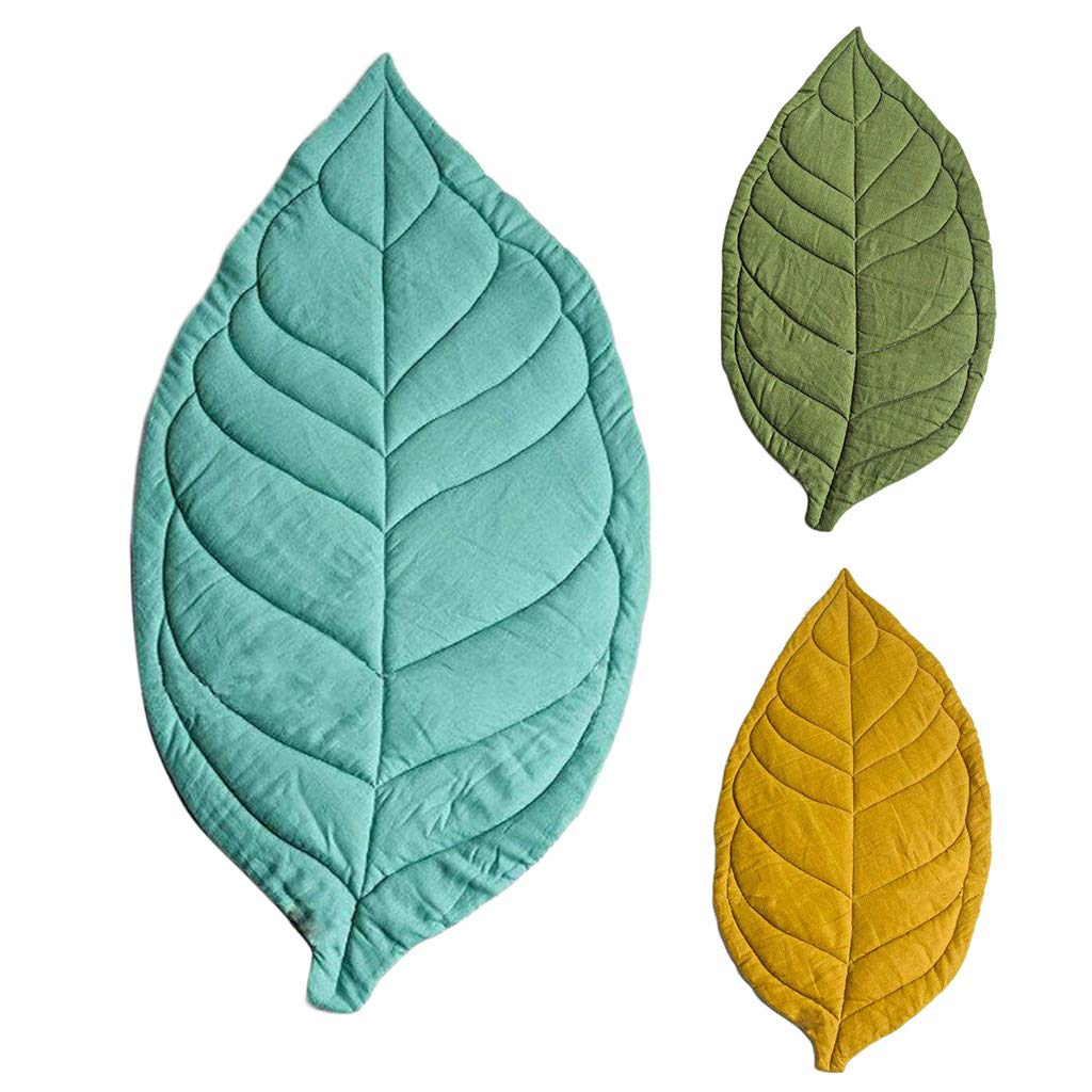 Museourstyty Baby Carpet Kid Children Play Room Decor Mat Leaf Shaped Soft Crawling Rugs