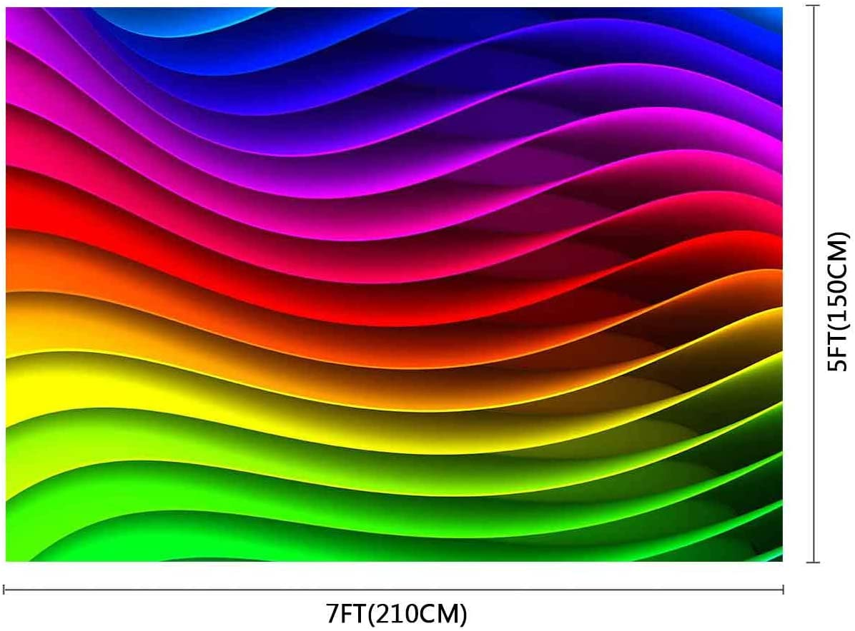 FUERMOR Colorful Photography Background 7x5ft Backdrop Photo Studio Props GEFU1154