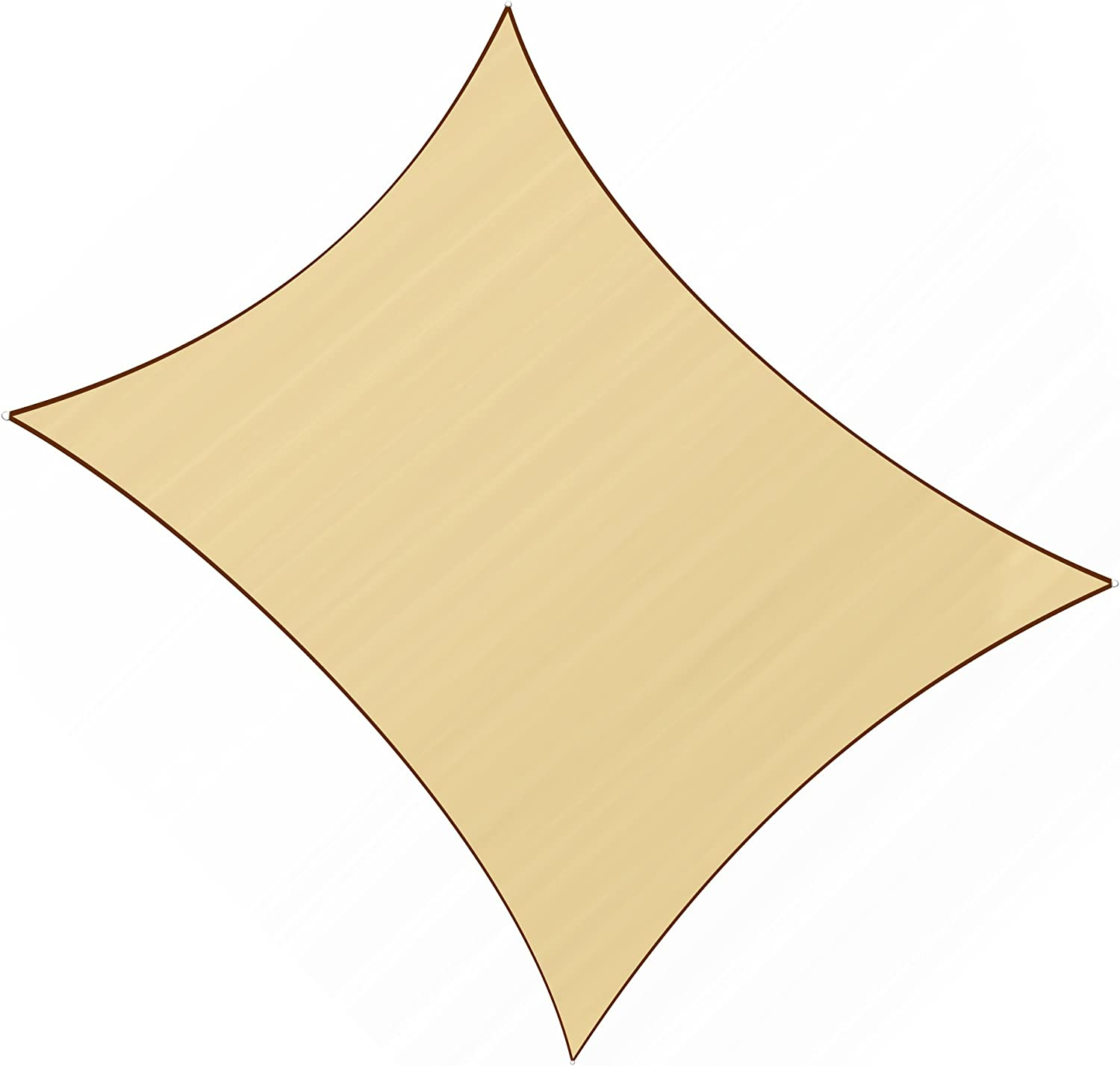 Sunlax 13 x 20 Sand Color Rectangle UV Block Sun Shade Sail Canopy for Patio and Outdoor