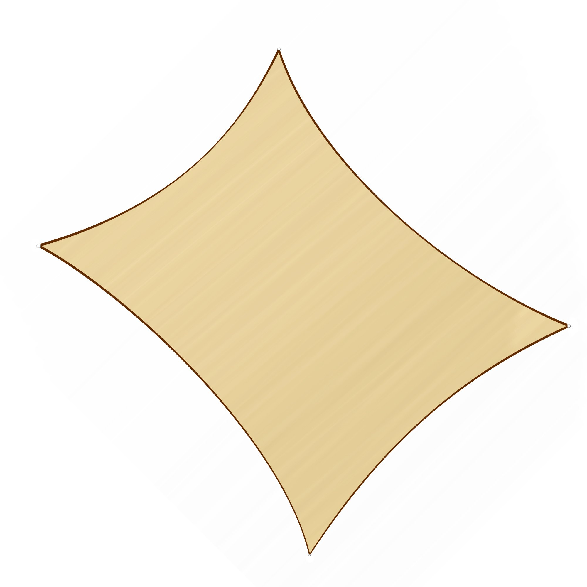 Sunlax 13' x 20' Sand Color Rectangle UV Block Sun Shade Sail Canopy for Patio and Outdoor by Sunlax