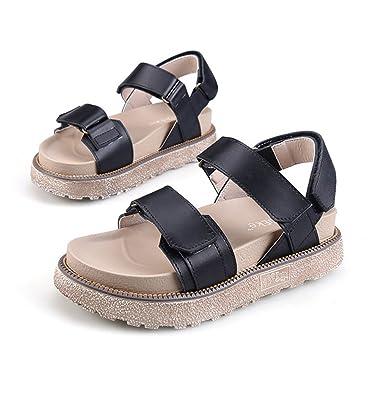 477512234 Zarbrina Women s Flatform Sandals Teen Girls Fashion British Style Open Toe  Ankle Strap Beach Rome Shoes