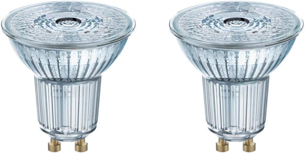 Osram Star PAR16 50 FS - Bombilla LED (36 grados, SMD, luz blanca cálida, GU10, 2 unidades)