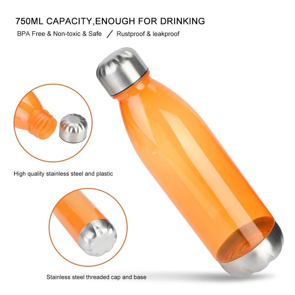 Escuela y al Aire Libre. Botella de Agua para Deportes Bicicletas VGEBY1 Botella de Agua de pl/ástico para Deportes al Aire Libre de 750 ml ni/ños