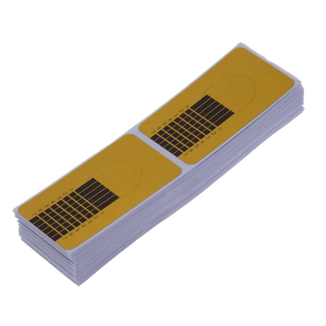 Cikuso 100xネイルアートチップ ゴールデン拡張ガイドフォーム DIYツール アクリル系UVジェル B07N98BNP7