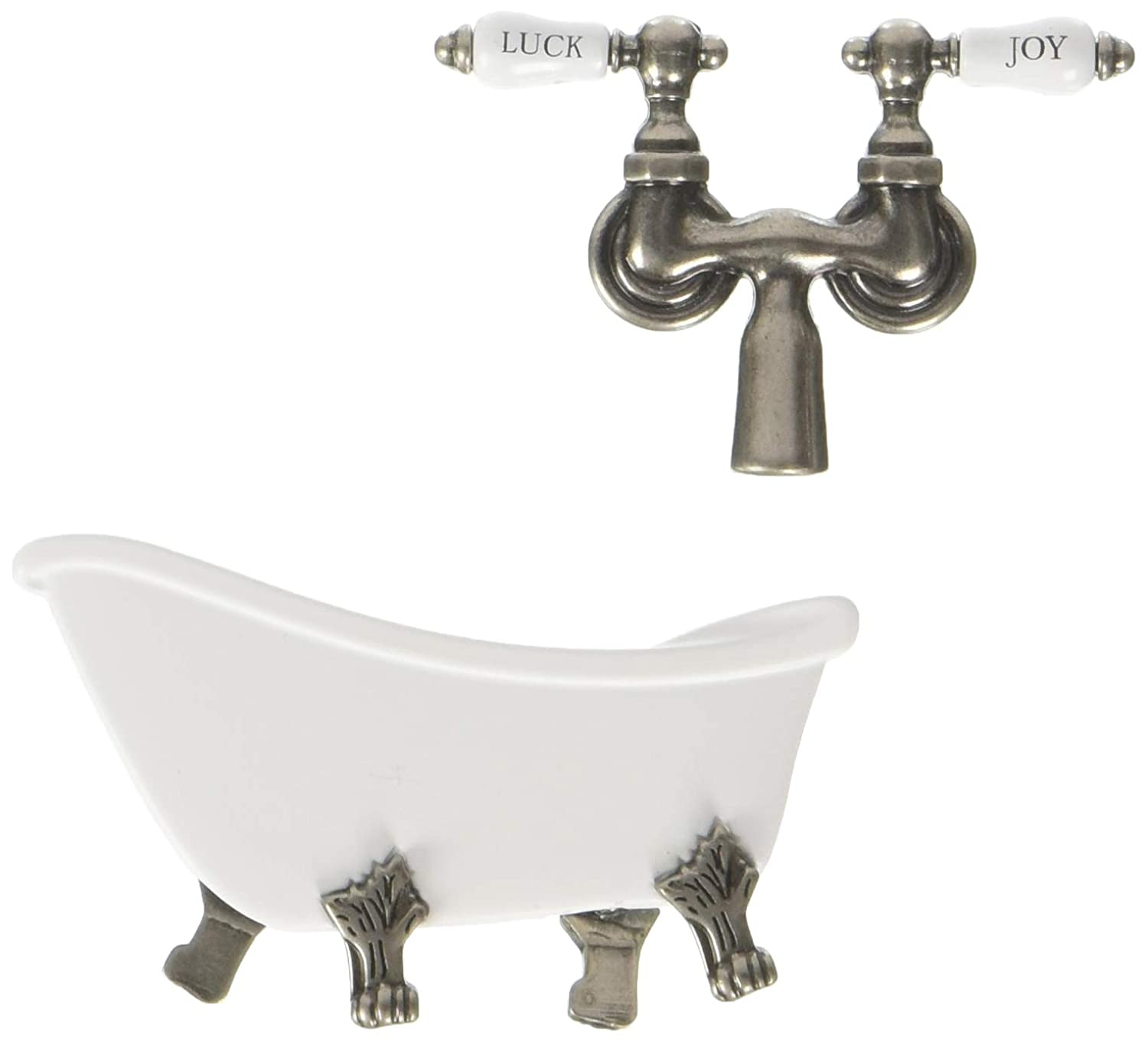 Prima Marketing Metal Shabby Chic Treasures Metal-Antique Clawfoot Tub con Grifo 366762