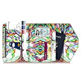 Multi-Purpose Passport Holder Wallet, Fintie Trifold RFID Blocking Travel Document Organizer Case, Love Tree