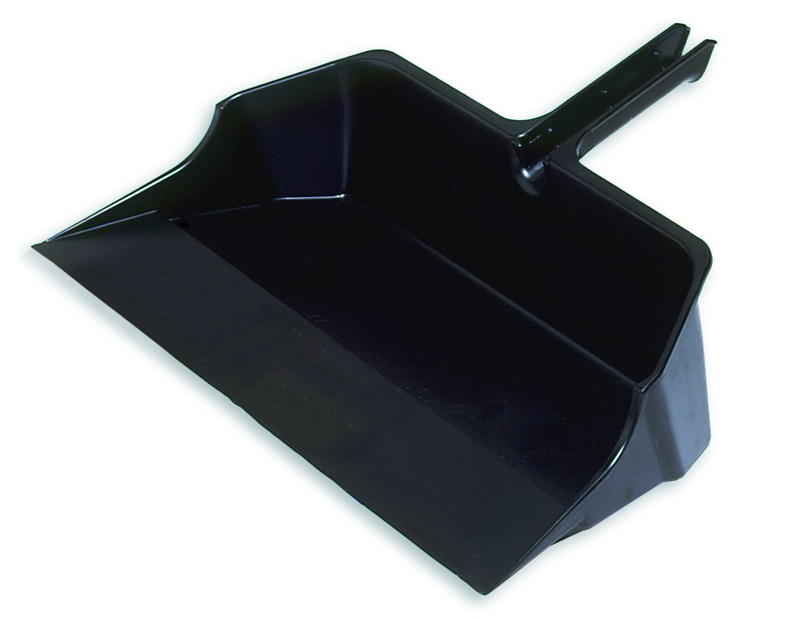 Rubbermaid Commercial FG9B6000BLA Jumbo Dust Pan, 18-inch Head Width, Black