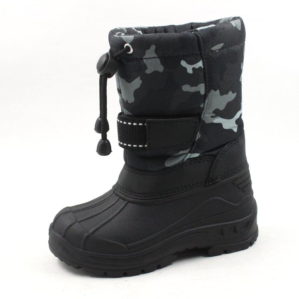 SkaDoo Cold Weather Snow Boot 1317 Gray Camo Size Big Kid 5
