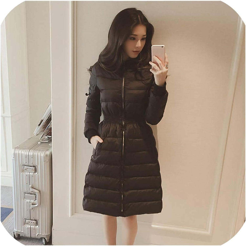 6 Color Winter Women Down Cotton Parka Long Fur Collar Hooded Coat Jacket @BT02