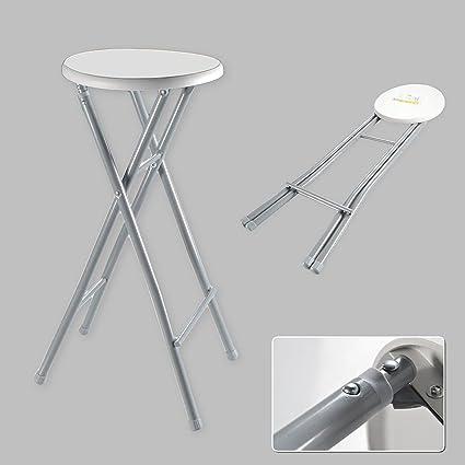 Xl Grau Hocker Klapphocker Faltbar Metall Barhocker Stuhl Weiß Riyashop Hoch Klappstuhl N8mwv0n