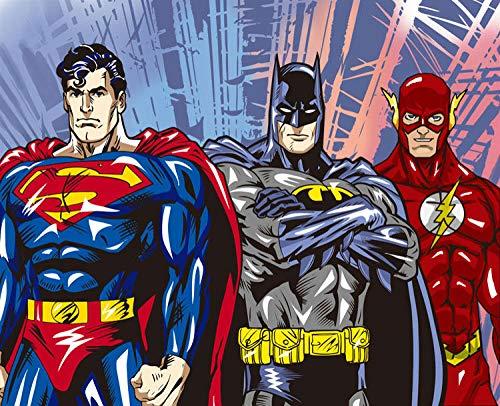 Mbwlkj Custom 3D Wall Murals Superman Wallpaper Comics Photo Wallpaper Boys Kids Bedroom Living Room Room Decor Superhero-350cmx245cm -