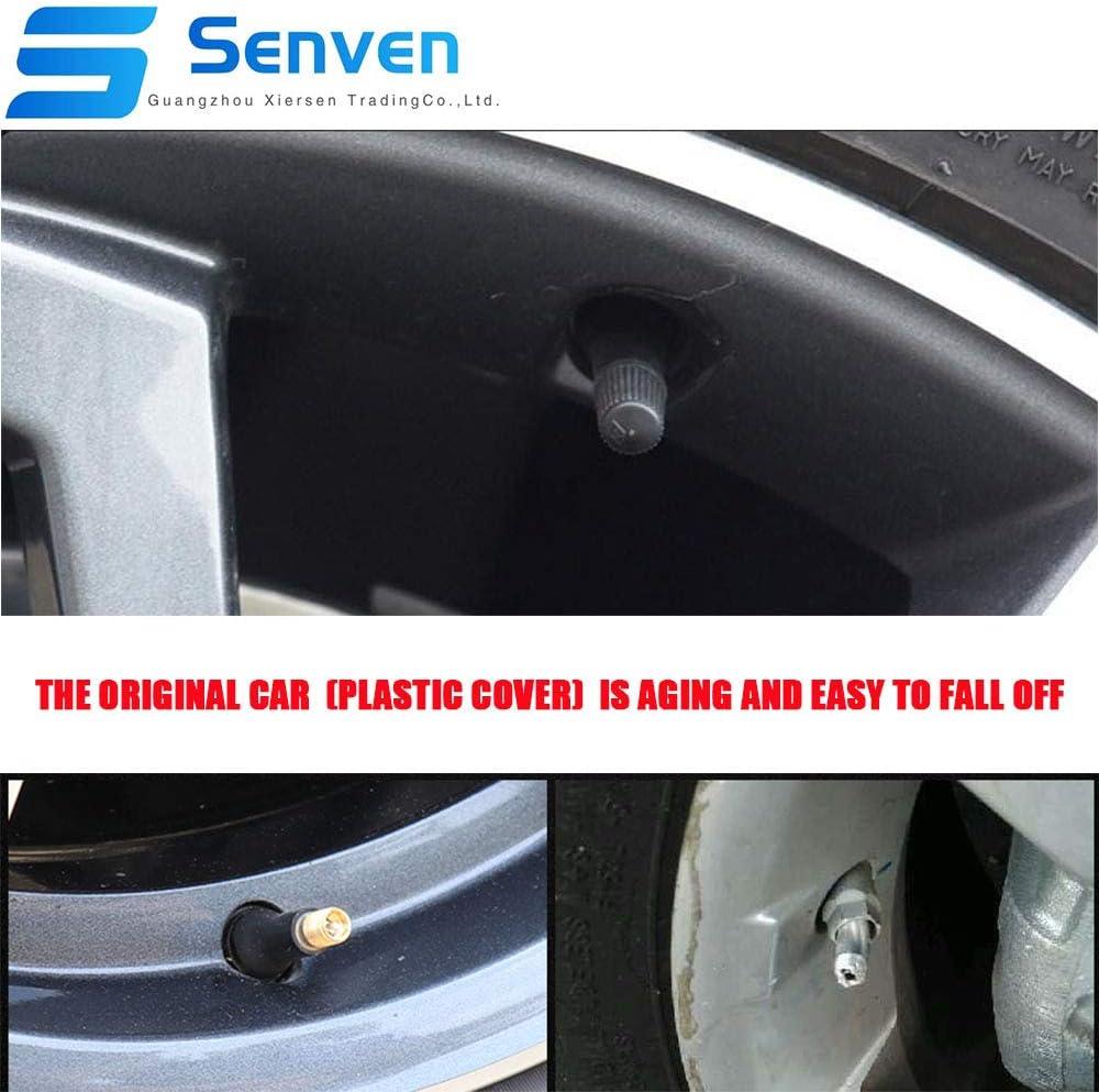 Cappucci parapolvere per pneumatici auto camion Coperture per valvole universali per pneumatici-20Pcs Evitare perdite daria Senven Cappucci per valvole in alluminio colore alta qualit/à moto